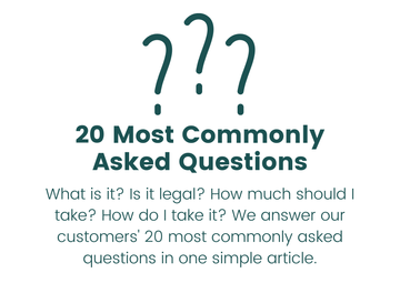 Image of question marks with the text 20 Most Commonly Asked Questions