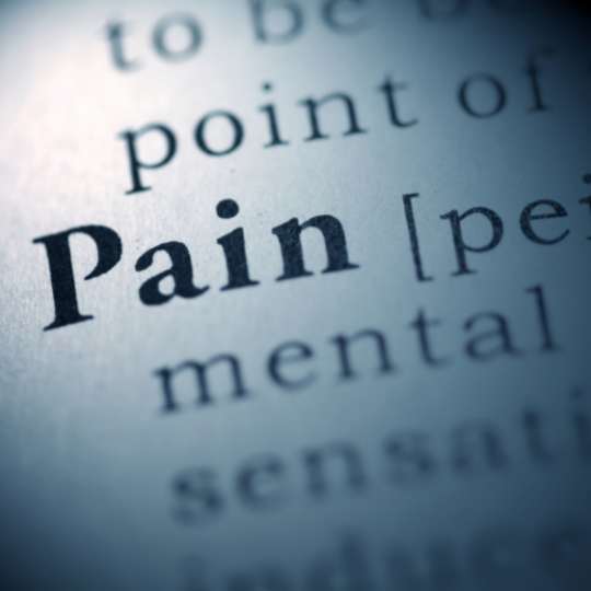 Image of text that says 'Pain'