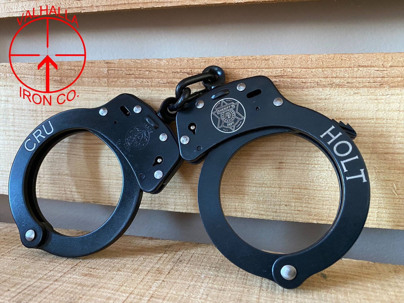 Custom Badge, Name, and Unit on Handcuffs