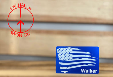 Weather American Flag with Custom Name Miranda Card