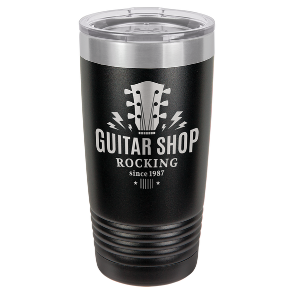 20 oz. Custom Engraved Coated Stainless Steel Cup