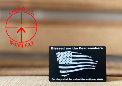Blessed are the Peacemaker Weathered Flag Miranda Card