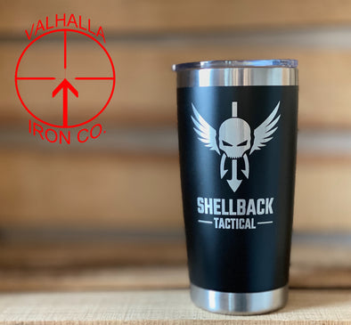 Custom Coated and Engraved 20oz. Stainless Cup