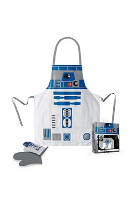 Pack Delantal y Manopla R2D2 Star Wars. Merchandising.