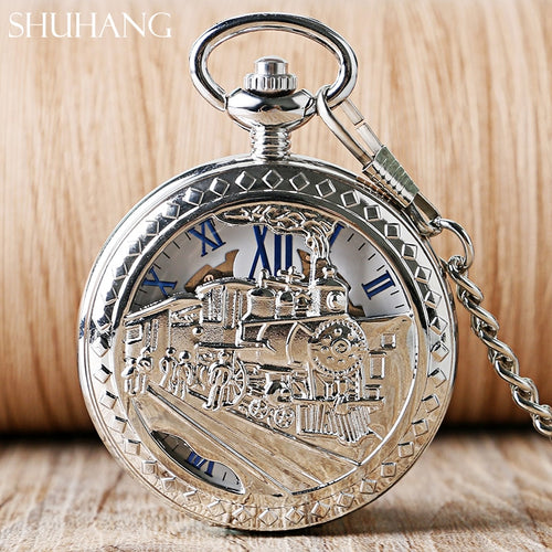 Men Women Mechanical Pocket Watch Warcraft  Mechanical Hand Wind Pocket Watch Clock Pendant Watch On The Chain reloj de bolsillo - Retfull