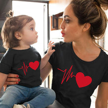 Load image into Gallery viewer, Cute Family Look Matching Clothes Mommy And Me Tshirt Mother Daughter Son Outfits Women Mom T-shirt Baby Girl Boys T Shirt - Retfull