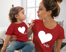 Load image into Gallery viewer, Family Mother And Daughter Matching Clothes Heart Printed T-Shirt Tops Cute Short Sleeve O Neck Soft Comfortable Fashion Tops - Retfull