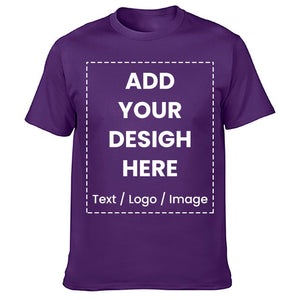 High Quality Customized T-shirt Design Your Own Logo Photo Text Printed T shirt Uniform Company Team Custom T shirt Printing - Retfull
