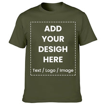 Load image into Gallery viewer, High Quality Customized T-shirt Design Your Own Logo Photo Text Printed T shirt Uniform Company Team Custom T shirt Printing - Retfull