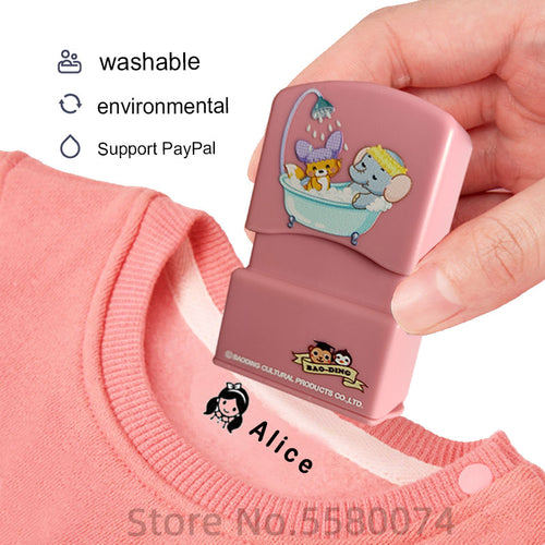 custom-made Baby Name Stamp DIY for children Name Seal student clothes chapter Not Easy To Fade Security Name Stamp Sticker - Retfull