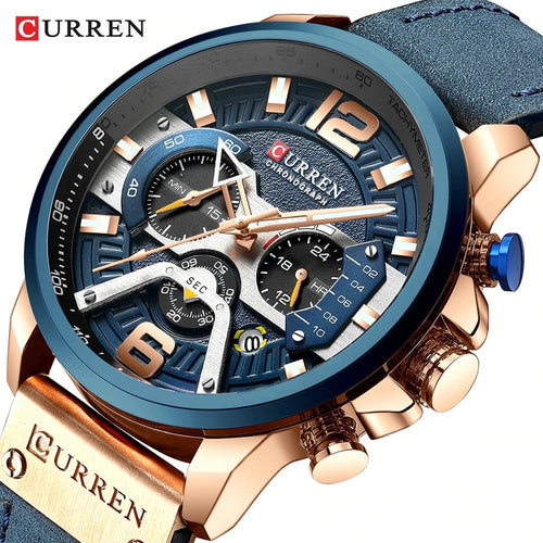 Watches Men CURREN Brand Men Sport Watches Men's Quartz Clock Man Casual Military Waterproof Wrist Watch relogio masculino - Retfull