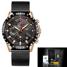 Load image into Gallery viewer, LIGE Top Brand Luxury Mens Fashion Watch Men Sport Waterproof Quartz Watches Men All Steel Army Military Watch Relogio Masculino - Retfull