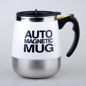 Auto Sterring Coffee mug Stainless Steel Magnetic Mug Cover Milk Mixing Mugs Electric Lazy Smart Shaker Coffee Cup and Mugs - Retfull