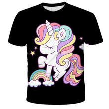 Load image into Gallery viewer, Pink Unicorn T-shirt 3D Baby Kids Little girl Summer Children Boys teenager White Tees Cartoon anime Tops For Girls Clothes - Retfull