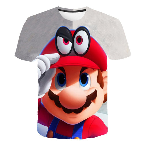 2020 Summer Funny 3D Printed Mario Children clothes Short Sleeve Kids Cartoon boy/girl T-shirts Costume Clothing Boys T Shirt - Retfull