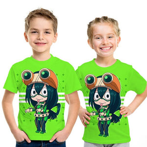 My hero college 3d printed cartoon kids T-shirt summer simple boys girls casual harajuku street baby kids T-shirt  clothes - Retfull