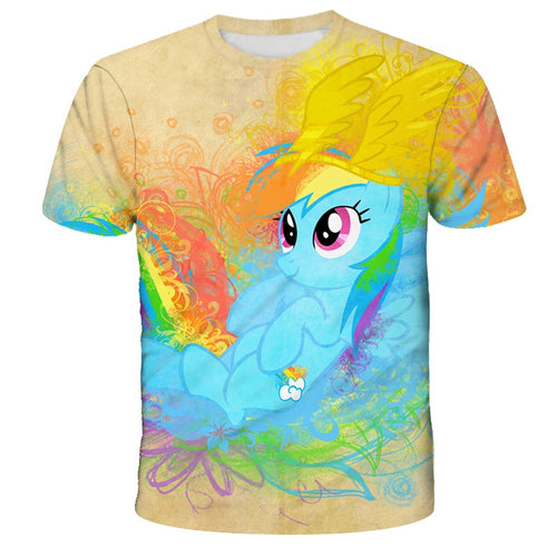 3D Baby kids unicorn t-shirt My Little Baby Cute for girl pony Girls Clothes Children boy T shirt Summer Short sleeve Costumes - Retfull