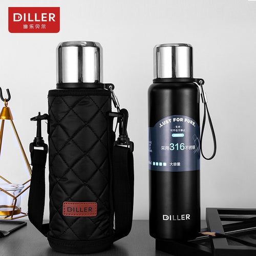 Water Bottle Thermos Pot Large Capacity Stainless Steel Food Grade Durable Leakproof Flask Drinking Cup Kettle - Retfull