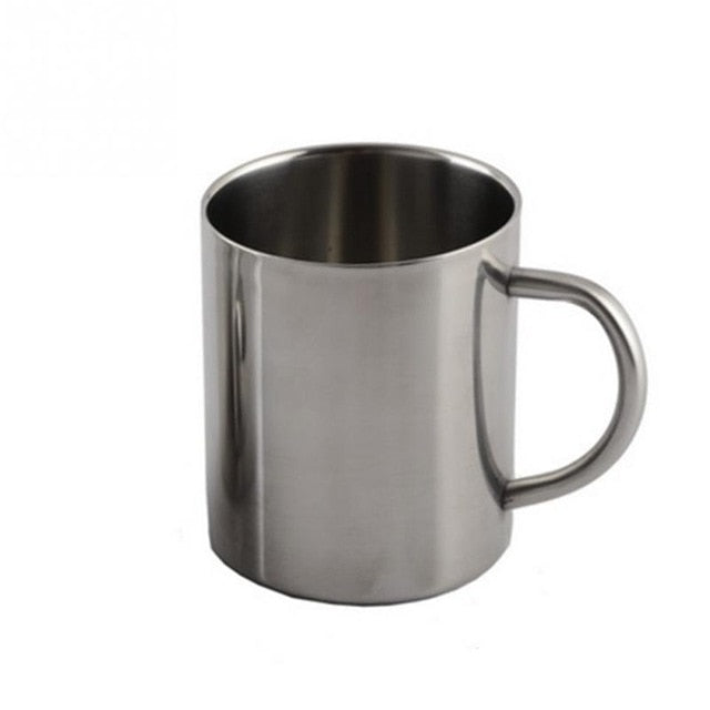 220ml/300ml/400ml Stainless Steel Coffee Mug Portable Mug Cup Double Wall Travel Tumbler Tea Cup with Handle #3 - Retfull