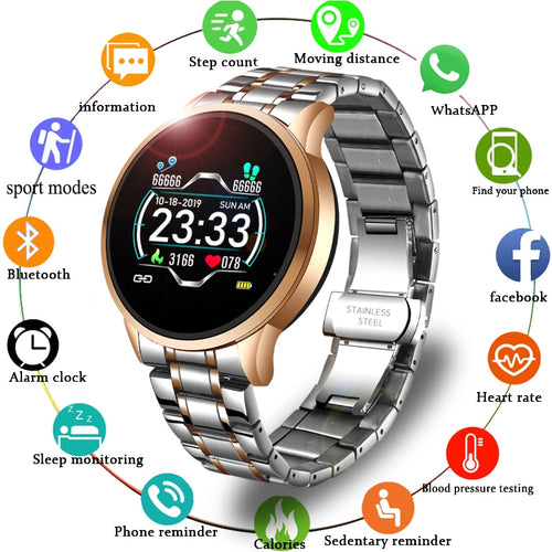 LIGE 2020 New Smart Watch Men Women Sports Watch LED screen Waterproof Fitness Tracker for Android ios Pedometer Smart Watch - Retfull