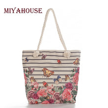 Load image into Gallery viewer, Miyahouse Fashion Floral Printed Tote Handbag For Female Casual Canvas Women Shoulder Bag Summer Beach Bag Lady Casual Classic - Retfull