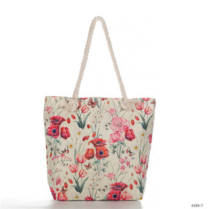 Miyahouse Fashion Floral Printed Tote Handbag For Female Casual Canvas Women Shoulder Bag Summer Beach Bag Lady Casual Classic - Retfull