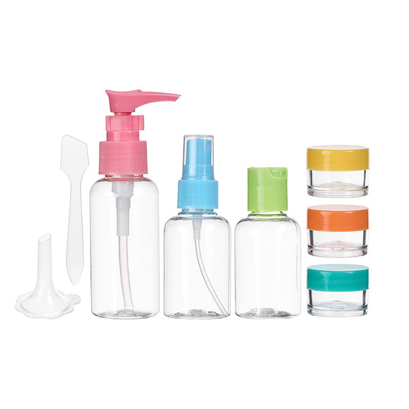 Colorful Traveling Bottle Set 8-Pcs.