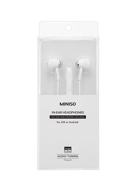 Elegant In-Ear Headphones White