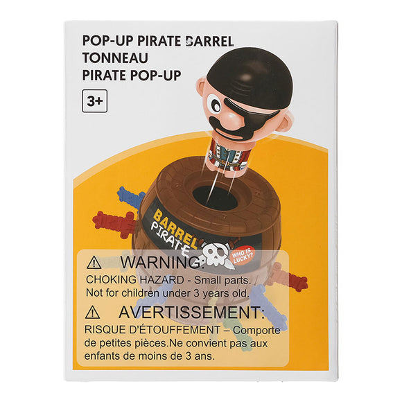 Pop Up Pirate Barrel