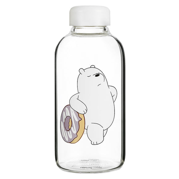We Bare Bears Pot-Bellied Glass Bottle