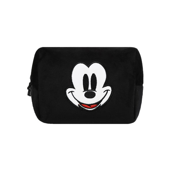 Mickey Mouse Collection Fluffy Cosmetic Bag (Black)