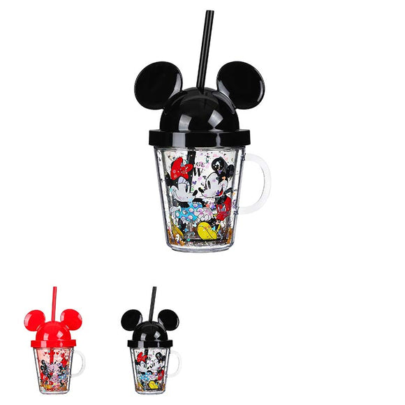Mickey Mouse Collection Straw Mug with Lid 280ml