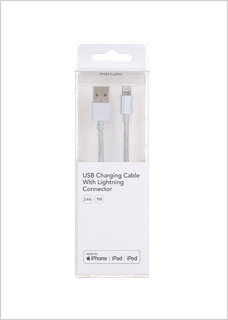 USB Charging Cable With Lightning Connector (1M)