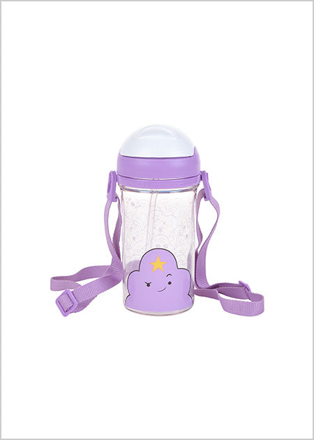 Adventure Time Water Bottle With Straw 400Ml-(Purple)