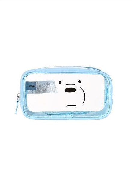 We Bare Bears-Optical Cosmetic Bag (Blue)