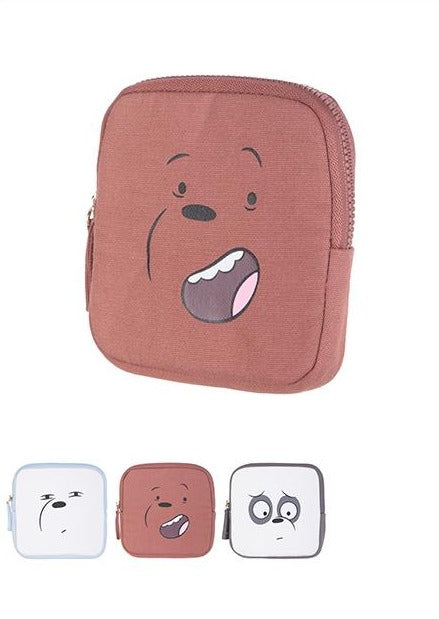 We Bare Bears  Square Coin Purse
