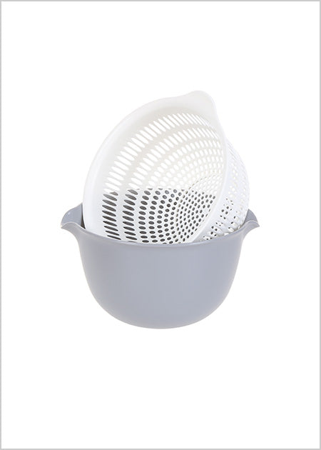 Round Draining Basket Grey