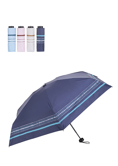 Simple Stripe Uv Protection Umbrella