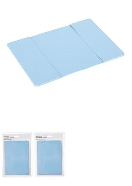 Solid Color Passport Cover Blue