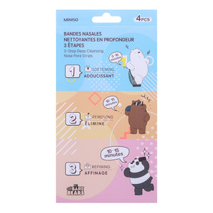 We Bare Bears 3 Step Deep Cleansing Nose Pore Stri