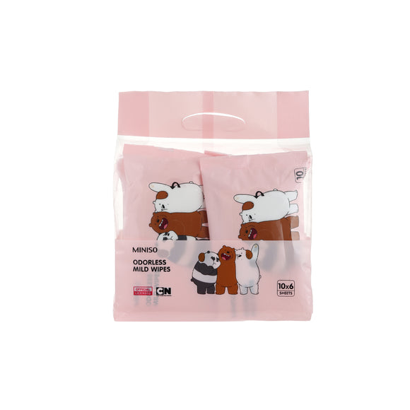We Bare Bears Odorless Mild Wipes 10 Sheets 6