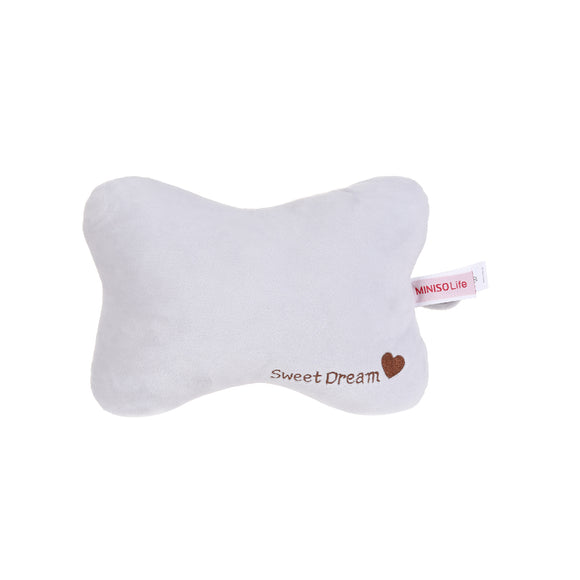 Solid Color Bone-Shaped Pillow Gray