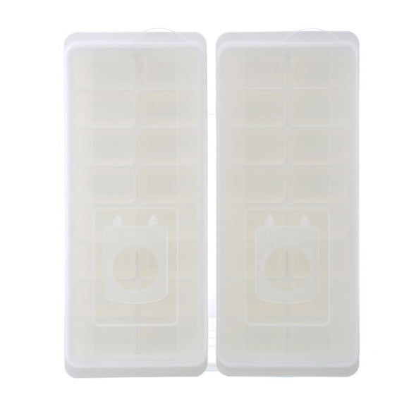 16-Compartment Ice Cube Tray 2 pack