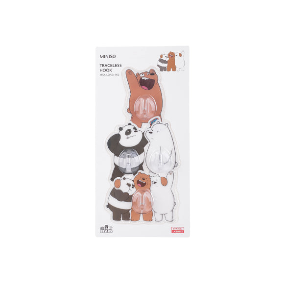 We Bare Bears Traceless Hook 4 Pack