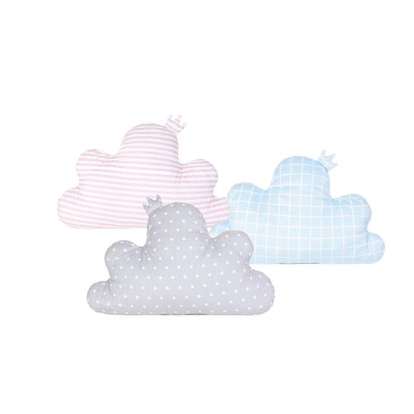 Cloud Shaped Checkered Pillow