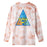 HUF Acid Skull Triple Triangle Long Sleeve T-Shirt Coral Pink