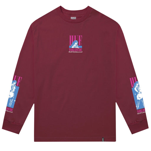 HUF Adult Ent. Long Sleeve T Shirt Mens Ls Tee Red Pear