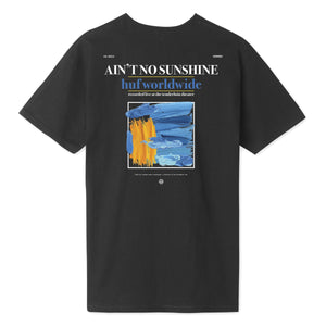HUF Aint No Sunshine T-Shirt Mens Printed Tee Black