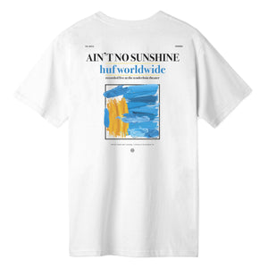 HUF Aint No Sunshine T-Shirt Mens Printed Tee White