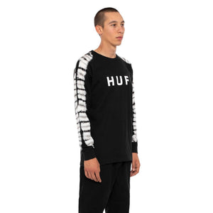 HUF Alas Dyed Long Sleeve T-Shirt Mens Black